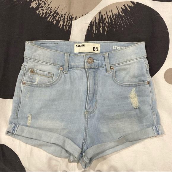Garage Pants - High Waisted Jean Shorts